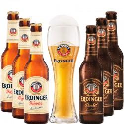 Kit Degustação Erdinger com 6 Cervejas e 1 Copo