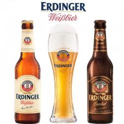 Kit Degustação Erdinger com 2 Cervejas e 1 Copo