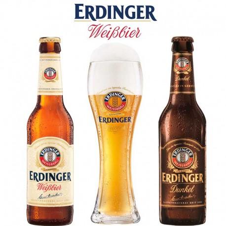 Kit Degustação Erdinger com 2 Cervejas + 1 Copo