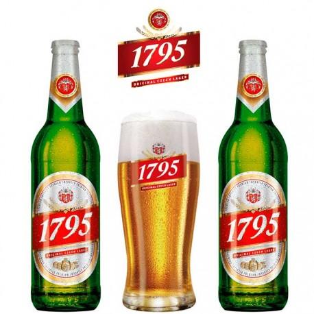 Kit Degustação 1795 com 2 Cervejas + 1 Copo