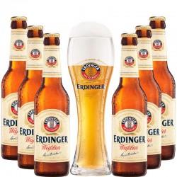 Kit Degustação Erdinger com 6 Cervejas e Copo