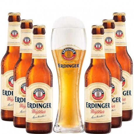 Kit Degustação Erdinger com 6 Cervejas + Copo Grátis