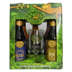 Kit Amazon Beer com 5 Cervejas e 1 Taça