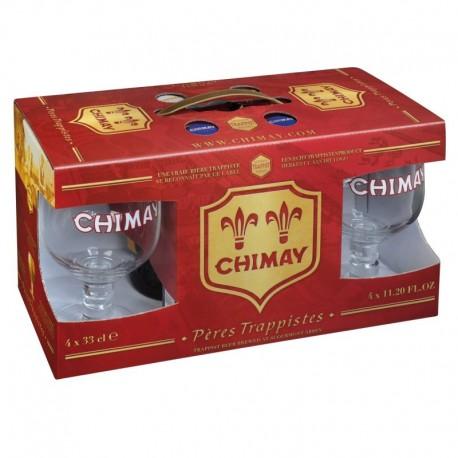 Kit Chimay com 4 Cervejas e 2 Taças