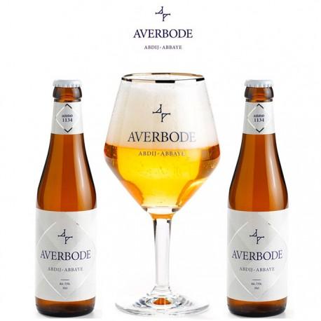 Kit Degustação Averbode com 2 Cervejas e 1 Copo