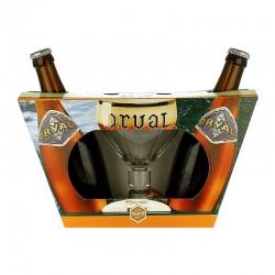 Kit da Cerveja Orval com 2 Garrafas e 1 Copo