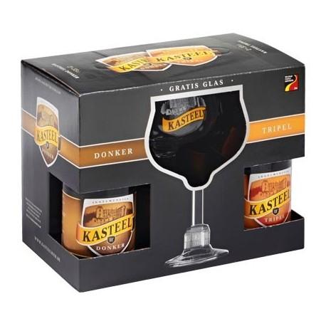 Kit Cerveja Kasteel com 4 Garrafas e 1 Copo
