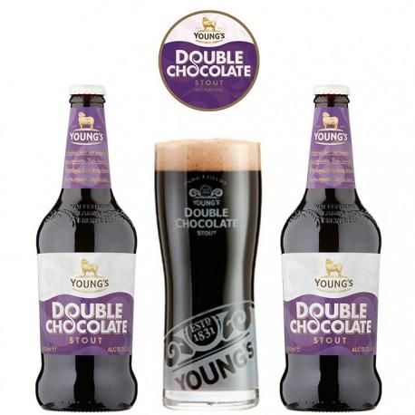 Kit Young's Double Chocolate Stout com 2 Cervejas e 1 Copo