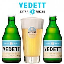 Kit Vedett Extra White com 2 Cervejas e 1 Copo