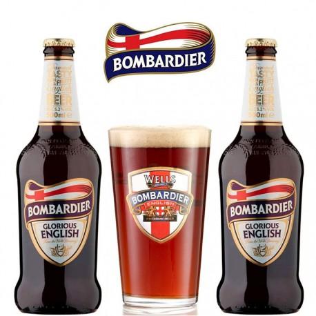 Kit Degustação Wells Bombardier com 2 Cervejas e 1 Copo