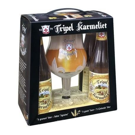 Kit Cerveja Tripel Karmeliet com 4 Garrafas e 1 Copo