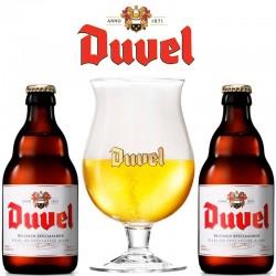 Kit Degustação Duvel com 2 Cervejas e Copo