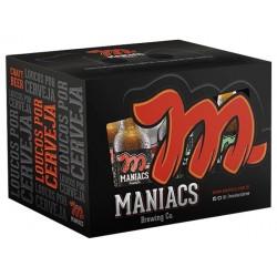Kit Maniacs com 4 Cervejas e 2 Copos