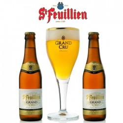 Kit Degustação St Feuillien Grand Cru com 2 Cervejas e 1 Copo
