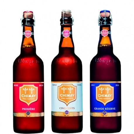 Kit Degustação Chimay com 3 Cervejas 750ml