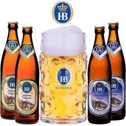 Kit Degustação HB com 4 Cervejas e 1 Caneca 1 Litro