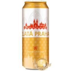 Cerveja Tcheca Zlatá Praha Lata 500ml
