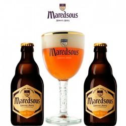 Kit Degustação Maredsous com 2 Cervejas e 1 Copo