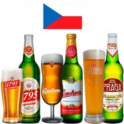 Kit Degustação Tchecas com 3 Cervejas e 3 Copos