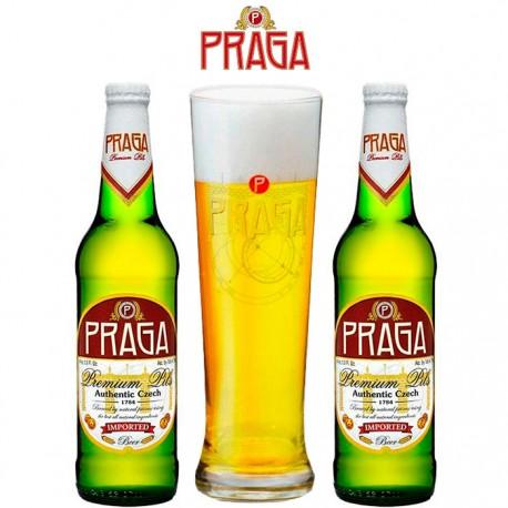 Kit Degustação Praga Premium Pils com 2 Cervejas e 1 Copo