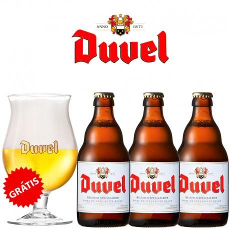 Kit Degustação Duvel com 3 Cervejas e Copo Grátis!