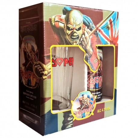 Kit Iron Maiden Trooper com 1 Cervejas e 1 Copo